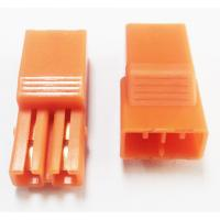 Wholesale 5.60mm Pitch 2P LED Connectors L=27.4  PA66 Orange Led Strip Connector from china suppliers