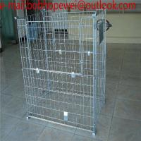 Buy cheap Warehouse Cage & Wire Mesh Container/hot dipped galvanized storage cage/wire mesh container & Wire pallet cage from wholesalers
