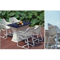 Wholesale White Garden Table And Chairs Set , Rattan Garden Furniture Sets 5 PCS from china suppliers
