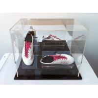 Wholesale clear acrylic shoe boxes plexiglass acrylic shoe display case with lid from china suppliers