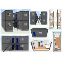 Wholesale Prefabricated Modern Homes 20FT Container House With Ladders Labor Living Quarters from china suppliers