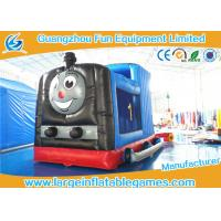 Wholesale Train Shape Inflatable Bouncy Castle Printing Art Panel For Business Hire from china suppliers