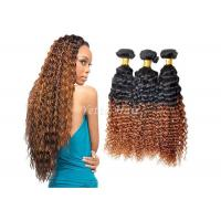 Wholesale Highlighted Deep Curly Remy Ombre Hair Extensions For Black Women from china suppliers