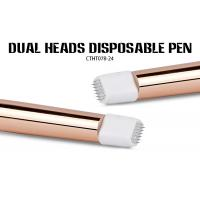 Quality OEM Manual Tattoo Pen Golden Double Head  With Curve Shading Blade for sale