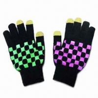 Wholesale Touch Screen Knitted Gloves, Customized Printings are Accepted from china suppliers