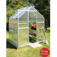 Wholesale UV Protection Ornamental Compact Walk in Greenhouse For Flowers With Sliding Door 6x6 ft from china suppliers