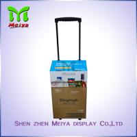 Wholesale Portable Custom Cartoon Corrugated Paper Case Handle Cardboard Luggage Bag with Wheels from china suppliers