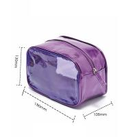 Quality Travel cosmetic bag, made of polyester and PVC, foldable with many pockets,OEM welcomed for sale