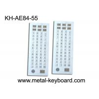 Quality 55 Keys Industrial Kiosk Metal Keyboard with Customized Layout Design for sale