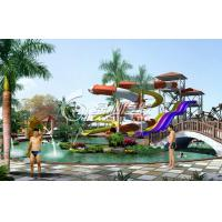 Wholesale Exciting Children / Adults Outdoor Slide Water Park Games Open Spiral Raft Slides from china suppliers