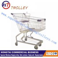 Wholesale Zinc Plated Supermarket Shopping Trolleys Cart German Style Unfolded from china suppliers