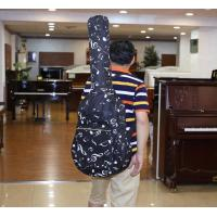 China Padding Sponge Double Shoulder Guitar Soft Bag With Music Note And Front Pocket on sale