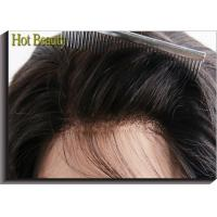 Front Lace Wigs Virgin Human Hair Natural Wave , Customized Human Hair Wigs