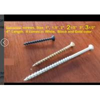 Quality 1-6inches Galvanized Steel material wood nails & screws in white, black, golden color for sale