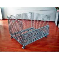 Wholesale Powder Coated Wire Mesh Pallet Cage For Logistics / Distribution Center from china suppliers