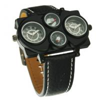 Wholesale hip-hop fashion mens' army watch leather strap army style watch from china suppliers