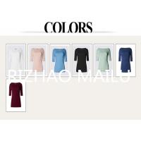 Buy cheap Slit-neck womenT shirt, short sleeve solid color 100% cotton plain t-shirts from wholesalers