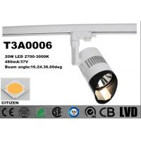Wholesale Horizontally 2700K - 3000K Dimmable LED Track Spotlights CITIZEN Tiltable 90 Deg from china suppliers