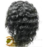 Wholesale Human Hair Front Lace Wigs Deep Curly Natural Color 1b# Fast Delivery from china suppliers