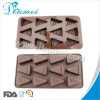 Wholesale Eco-Friendly 12 Cavities Cheese Shaped Triangle Shape Silicone Chocolate Mold Candy Mold from china suppliers