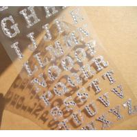 Wholesale silver glitter sticker Alphabet rhinestone sticker for phone case from china suppliers