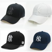 Wholesale In stock student ny cap embroidery cap male and female caps cheap adult baseball caps black/white from china suppliers