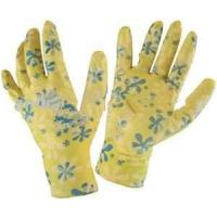 Wholesale Flexible 13g flower nylon liner coated Customerized white PU glove for girls for Plumbing from china suppliers