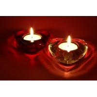 Wholesale A204 Heart Shaped Romantic Candles Decorative LED Canvas Lighted Wall Art from china suppliers