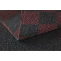 Wholesale Mens Red And Black Plaid Wool Shirting Fabric , Washable Thick Woolen Fabric from china suppliers