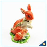 Wholesale Handmade Lovely Rabbit Trinket Box For Decorative Jewelry Box SCJ596 from china suppliers