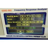Quality GDRZ-902 Transformer Frequency Response Analyzer by FRA Method for sale