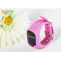 Wholesale Mini Safety Kids Cell Phone Watch , Watch Tracking Device For Child / Elderly from china suppliers