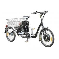 "Wholesale 22""  Electric Adult Tricycles Black 3 Wheel Electric Trike With Rear Luggage Carrier from china suppliers"