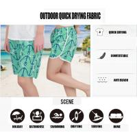 Buy cheap Beach Shorts Summer Dress Fashion Girl mini pleated Swimwear Quick Drying Seascape Prints Elastic Waist Band and String from wholesalers