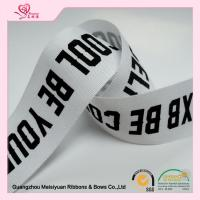Quality Custom printed cotton ribbon Character Silkscreen Printed , double faced satin ribbon 38mm for sale