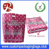 Wholesale Colorful Printed Recycle Merchandise HDPE / LDPE Die Cut Handle Plastic Bags For Shopping from china suppliers