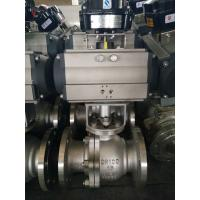 Wholesale 2PC Floating Type, Stainless Steel Pneumatic Actuator Flanged Ball Valve from china suppliers