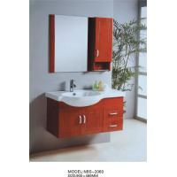 Wholesale Cherry color Solid Wood Bathroom Cabinet with mirror 0.4CBM Volume 900 * 480MM from china suppliers