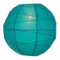 Wholesale 8 Inch Teal Green Round Paper Lanterns For Parties , Beautiful Paper Lanterns from china suppliers