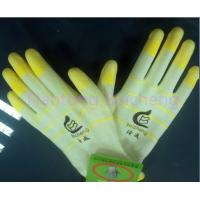 Wholesale Colorful PU Coated Glove 13 Gauge with Pale White Polyester Dip Palm from china suppliers