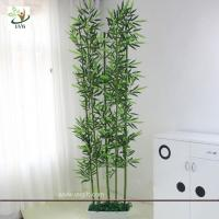 Quality UVG wholesale decorative artificial lucky bamboo in silk and plastic leaves for indoor decoration PLT19 for sale