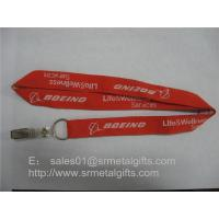 Wholesale Jacquard airline service logo id badge holder lanyard, id card holder woven neck straps, from china suppliers