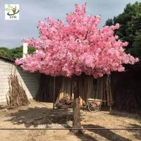 Wholesale UVG indoor decorations cherry blossom tree artificial in silk flower arrangements for wedding planners CHR155 from china suppliers