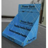 Wholesale Power Bank Cardboard Counter Display with tailored holes and shelves from china suppliers