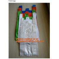 Wholesale colored plastic, t-shirt shopping bags, custom printed, plastic t shirt bags, poly bags from china suppliers