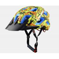 Wholesale Yellow Graffiti Professional MTB Enduro Helmets , Blue EPS Color Available and CE Certified from china suppliers