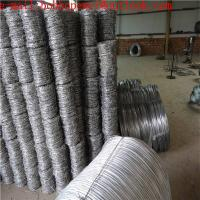 Buy cheap Galvanized Barbed Wire Price Per Roll European Market/green color PVC coated barbed wire fence/ barbed wire fencing mes from wholesalers