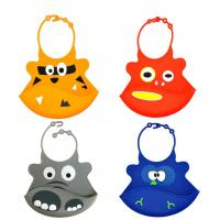 Buy cheap Baby products Self-marketing silicone saliva silicone rice round silicone waterproof bib from wholesalers