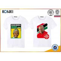 Wholesale Custom T Shirt Printing Polyester / Cotton Election Campaign T Shirts O Neck from china suppliers