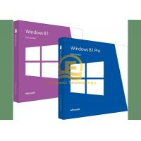 Wholesale Microsoft Windows 8.1 Pro Pack DVD System Builder , Windows 8.1 Retail Box from china suppliers